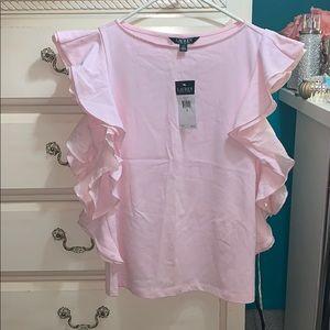 Ralph Lauren light pink ruffle top